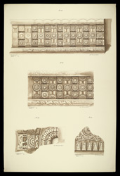 Drum frieze panels, a pillar fragment and a Buddhapada fragment from the Great Stupa of Amaravati